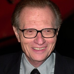 A photograph of Larry King.