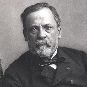 A photograph of Louis Pasteur.