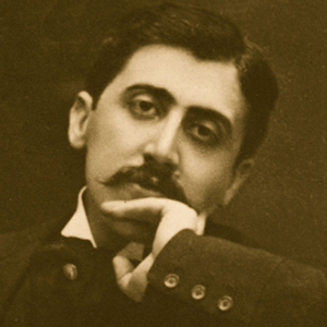 A photograph of Marcel Proust.