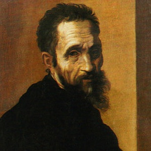A photograph of Michelangelo.