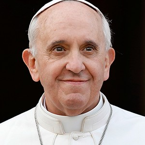A photograph of Pope Francis.
