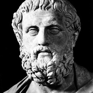 A photograph of Sophocles.