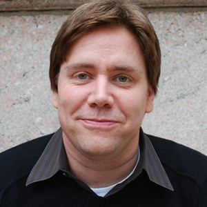 A photograph of Stephen Chbosky.