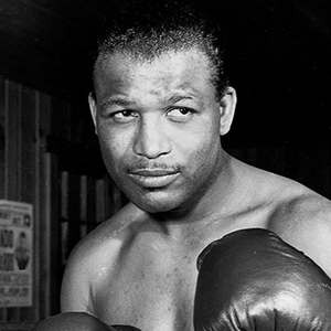 A photograph of Sugar Ray Robinson.