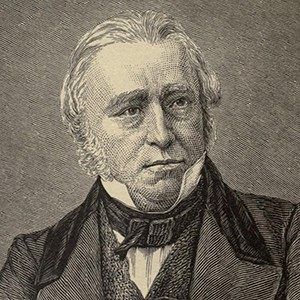 A photograph of Thomas Babington (Lord Macaulay).
