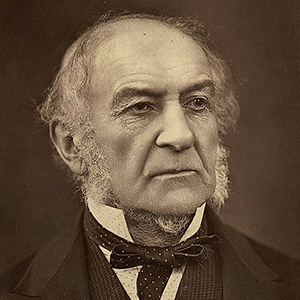 A photograph of William Gladstone.