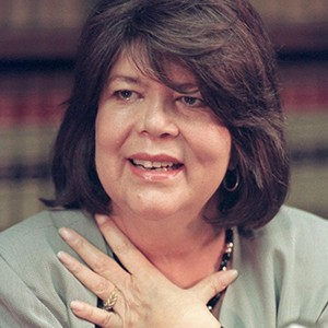 A photograph of Wilma Mankiller.