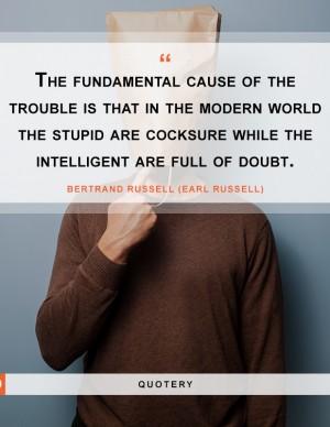 stupid-cocksure-intelligent-full-of-doubt