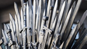 Iron throne from Game of Thrones.