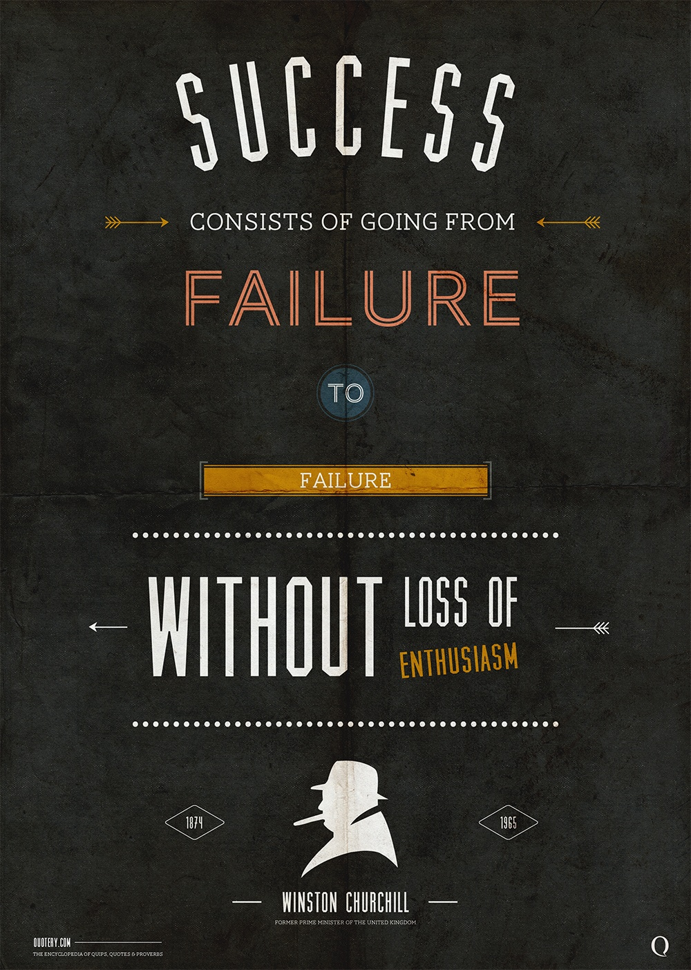 """Success is the ability to go from one failure to another with no loss of enthusiasm."" — Winston Churchill"