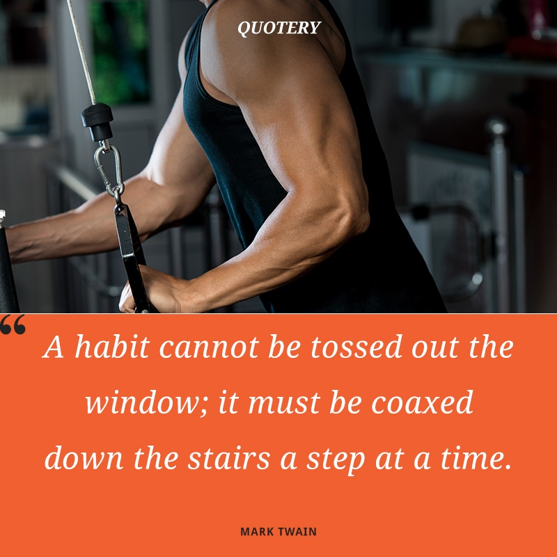 """A habit cannot be tossed out the window; it must be coaxed down the stairs a step at a time."" — Mark Twain"