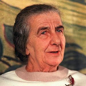 Photograph of Golda Meir.