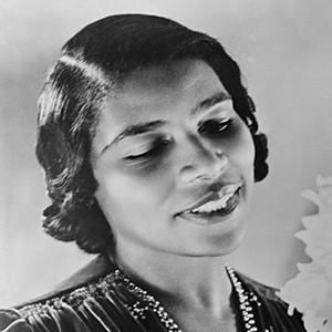 Photograph of Marian Anderson.