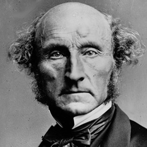 A photograph of John Stuart Mill.