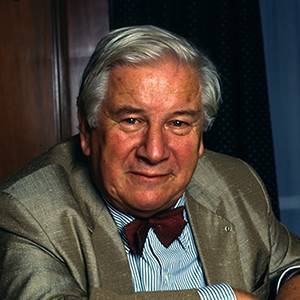 A photograph of Peter Ustinov.
