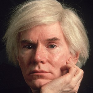 A photograph of Andy Warhol.