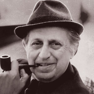 A photograph of Leo C. Rosten.