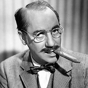 A photograph of Groucho Marx.