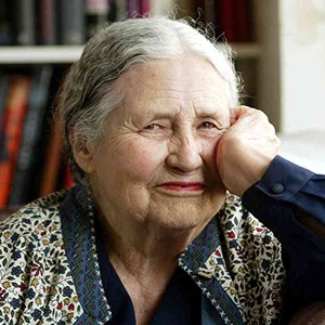 A photograph of Doris Lessing.