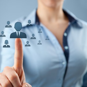 New job and promotion concept; human resources choosing the right person.