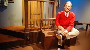 Mister Rogers wax figure.