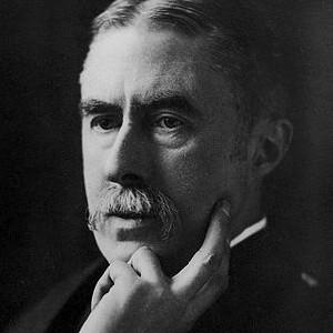 A photograph of A. E. Housman.