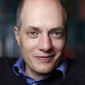 A photograph of Alain de Botton.