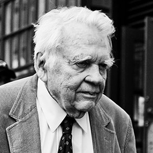A photograph of Andy Rooney.