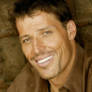 A photograph of Anthony Robbins.