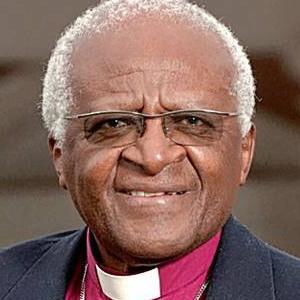 A photograph of Desmond Tutu.