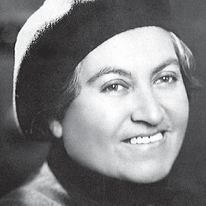 A photograph of Gabriela Mistral.