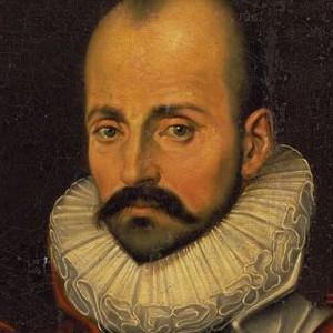 A photograph of Michel de Montaigne.