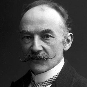 A photograph of Thomas Hardy.
