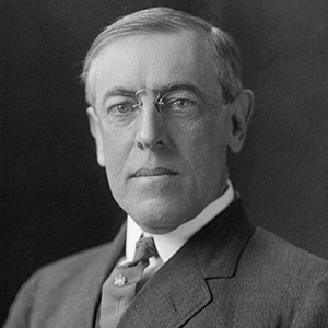 A photograph of Woodrow Wilson.