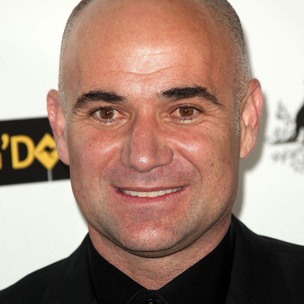 A photograph of Andre Agassi.