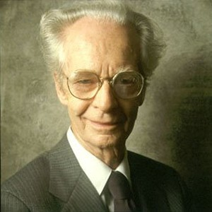 A photograph of B. F. Skinner.
