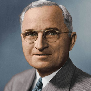 A photograph of Harry S. Truman.