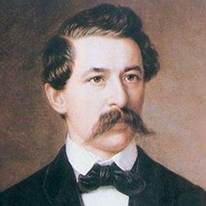 A photograph of János Arany.