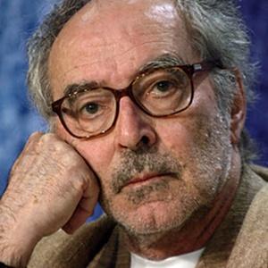 A photograph of Jean-Luc Godard.