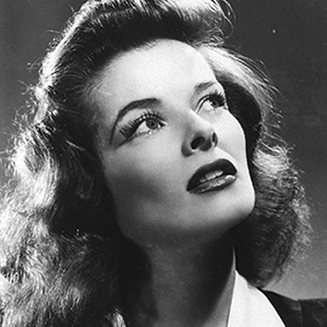A photograph of Katharine Hepburn.