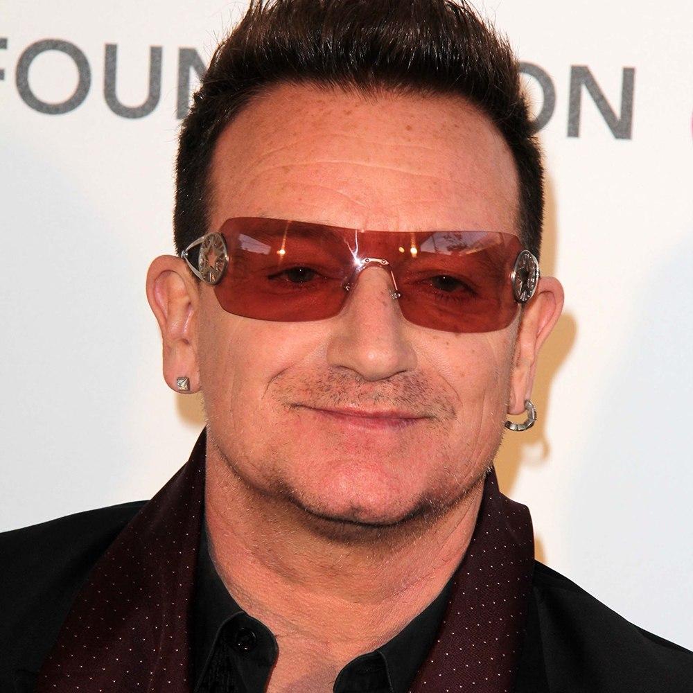 A photograph of Paul David Hewson (Bono).