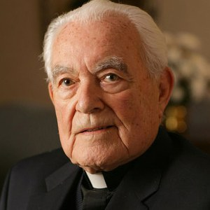 A photograph of Theodore Hesburgh.
