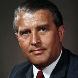 A photograph of Wernher von Braun.