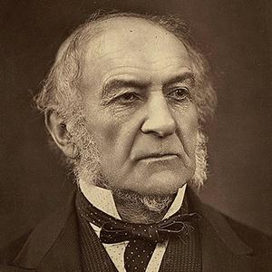 A photograph of William Gladstone.