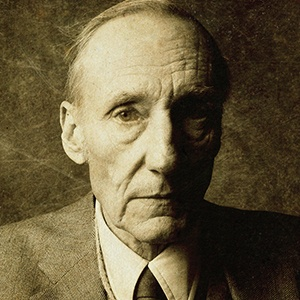 A photograph of William S. Burroughs.